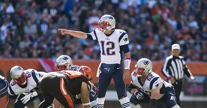 Tom Brady and the undefeated Patriots look to continue their dominance vs Cleveland on Sunday.