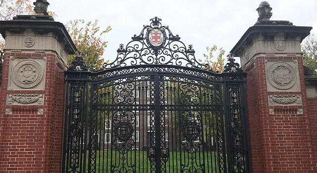 The campus entrance gate to Brown University. (TLOD.com)