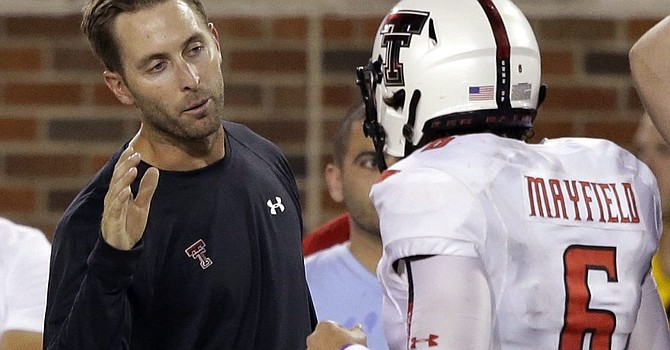 Baker Mayfield and Kliff Kingsbury have buried the hatchet since their differences at Texas Tech. (BrownsWire)