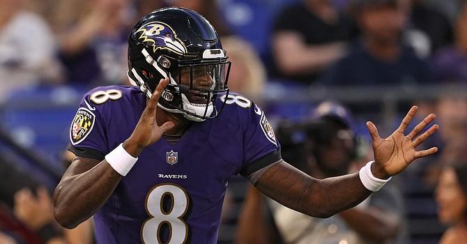 Lamar Jackson might be having the best quarterback season in NFL history. (Heavy.com)