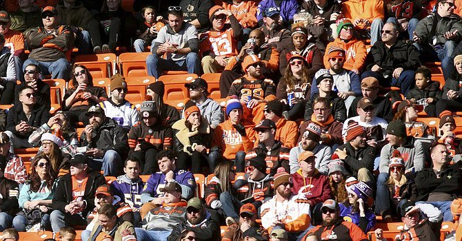As they have all year, Browns fans showed up in droves to support yet another season of Great Unmet Expectations. (Star Beacon)