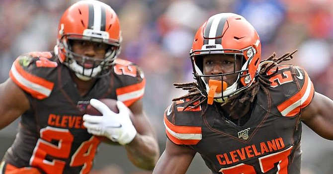 Nick Chubb and Kareem Hunt should be the focal point of the offense next year. (heavy.com)