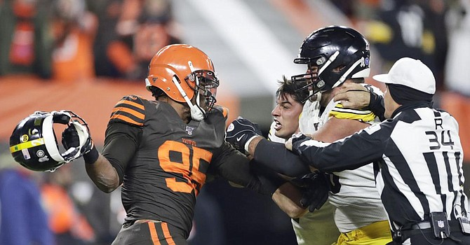Myles Garrett's meltdown blunted one of the biggest wins over the Steelers in decades and effectively ended the Browns' playoff hopes. (USA Today)