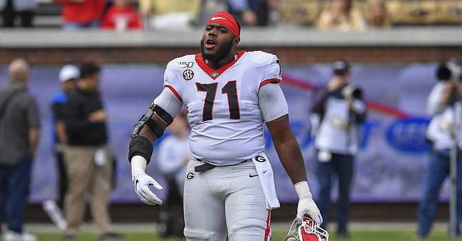 Andrew Thomas was a three-year starter at Georgia, his last two seasons at left tackle. (si.com)