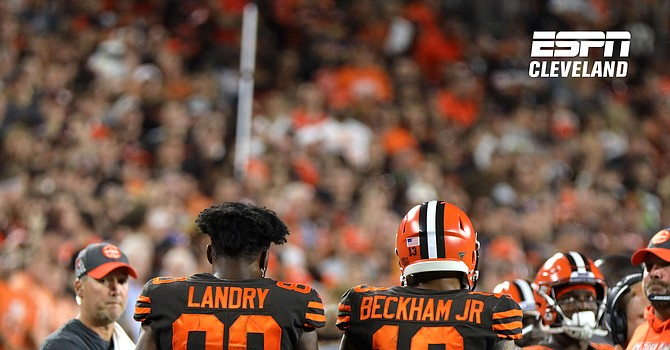 Jarvis Landry and Odell Beckham Jr. joined other NFL stars in demanding the NFL to condemn racison and support their right to protest racial injustice. (Rob Lorenzo)