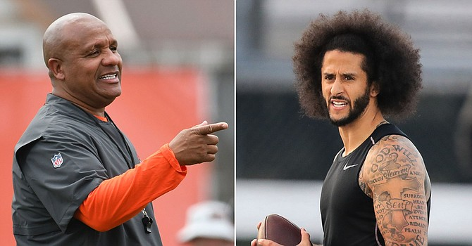 Hue Jackson's story about wanting to sign Colin Kaepernick in 2017 doesn't mesh with quotes from real team. (nypost.com)