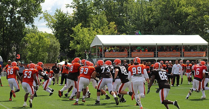 You won't see VIP boxes or spectators at the 2020 Browns training camp.