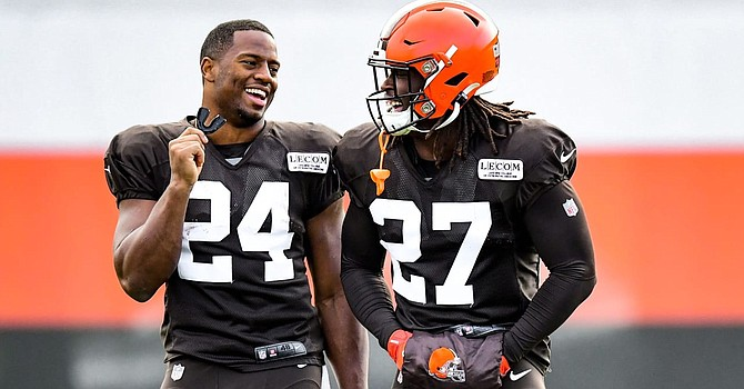 The Browns have something special in Nick Chubb and Kareem Hunt. They need to make them their identity. (Cleveland Browns)