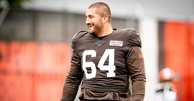 Center JC Tretter is not complaining about a reduction in offensive holding calls throughout the NFL. (Cleveland Browns)