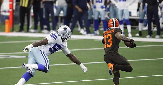 Odell Beckham Jr.'s 50-yard touchdown run against the Cowboys displayed his 'greatness,' according to Jarvis Landry. (USAToday)