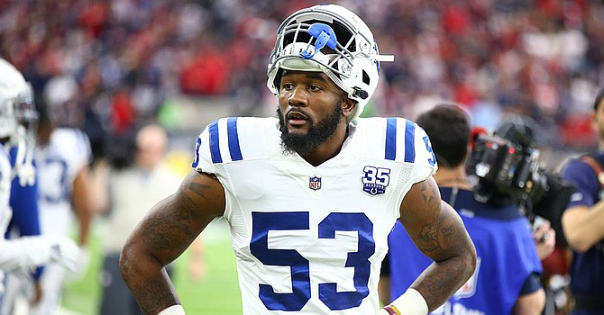 The Colts No. 1-ranked defense will be without star linebacker Darius Leonard, who was ruled out with a groin injury. (Dynasty League Football)
