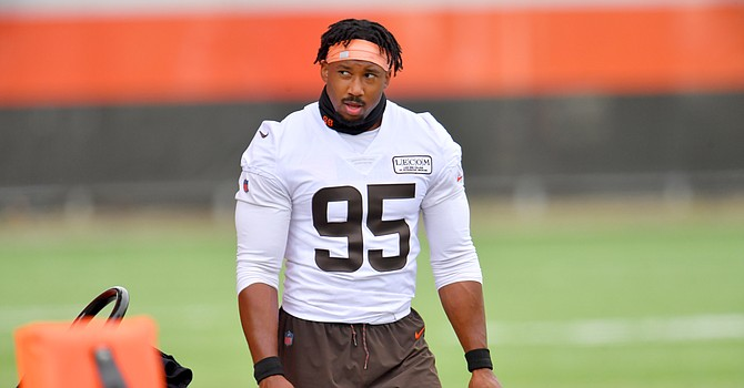 Myles Garrett is the Browns' Mr. October after being named AFC defensive player of the month. (Dawg Pound Daily)