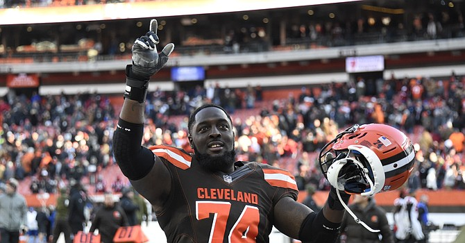 Offensive lineman Chris Hubbard was placed on Covid-19 reserve, but the Browns were able to avoid an outbreak. (Getty Images)