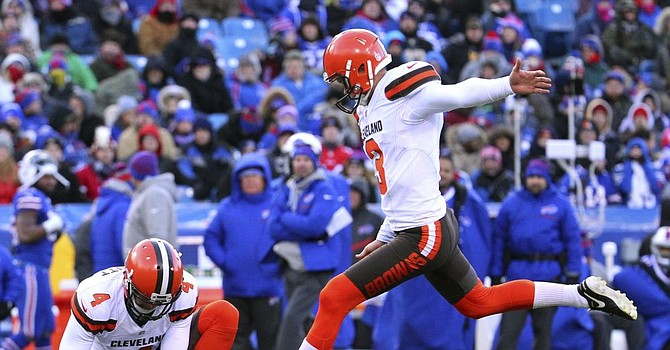 Kicker Cody Parkey is among three players placed on the Covid-19 reserve list because of high-risk contact with someone who tested positive. (BrownsZone.com)