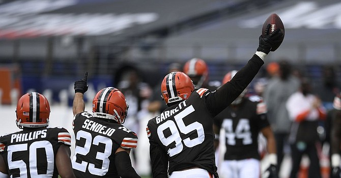 Myles Garrett is expected back on Friday after missing two days with non-Covid sickness. (Cleveland19)