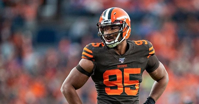 The NFL's leading pass rusher has been sacked by Covid-19. (YahooNews)