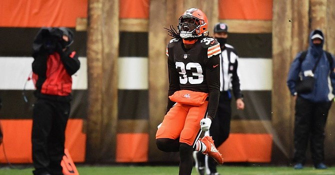 Browns safety Ronnie Harrison's status was changed after multiple negative tests for Covid after initially testing positive on Thursday. He will play in the wild card game on Sunday. (Dawgs By Nature)