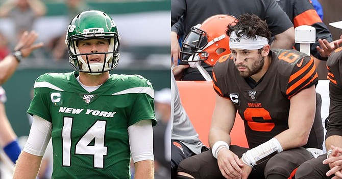 The once-promising AFC rivalry between Baker Mayfield and Sam Darnold ended when Darnold was traded by the Jets to Carolina. (NFL.com)