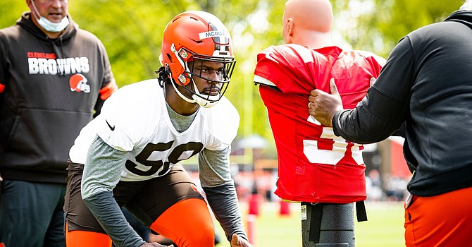 Defensive lineman Malik McDowell hasn't played football in four years because of legal troubles. He'll be an interesting player to watch in training camp. (Cleveland Browns)