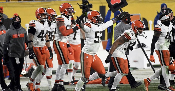 A 28-point first quarter shellacked Ben Roethlisberger and the Steelers to end an 18-year losing streak in Heinz Field and produce the Browns' first postseason win on the road in over 50 years. (Associated Press)