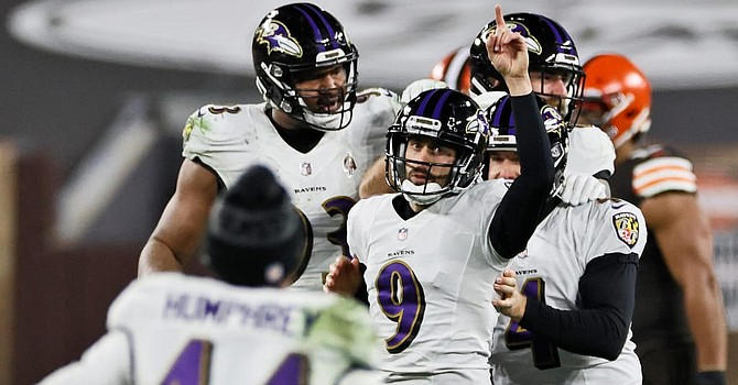 Baltimore kicker Justin Tucker is one division rival player I would rush to acquire for the Browns. (Baltimore Ravens)