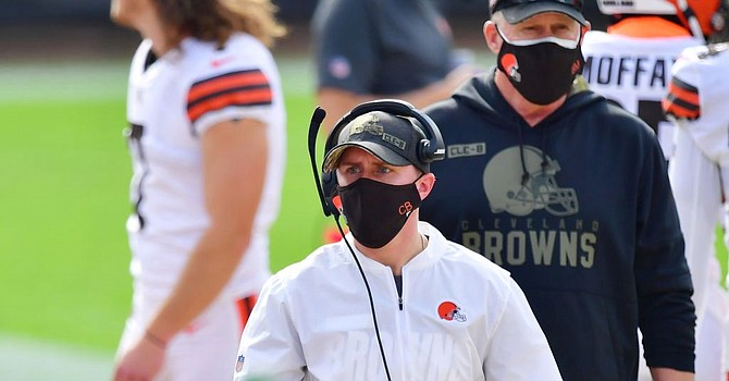 Callie Brownson, Kevin Stefanski's chief of staff, has helped open doors for women coaches in the NFL. (Getty Images)