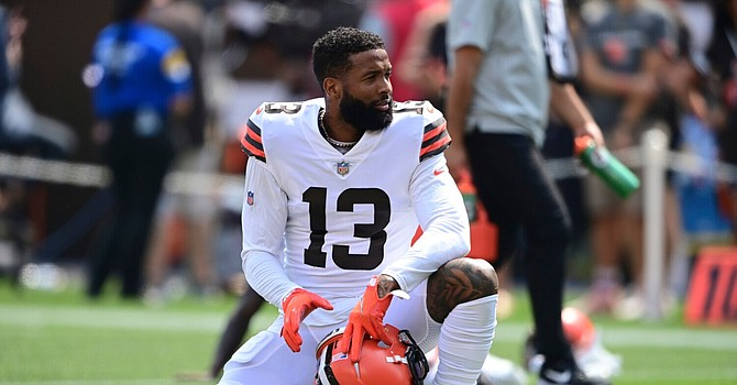 Despite two catches and one drop, the Browns sounded pleased with Odell Beckham Jr.'s limited role in the 42-point game against the Chargers. (Associated Press)